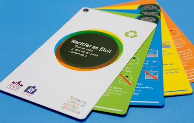 diseño de folleto información reciclaje