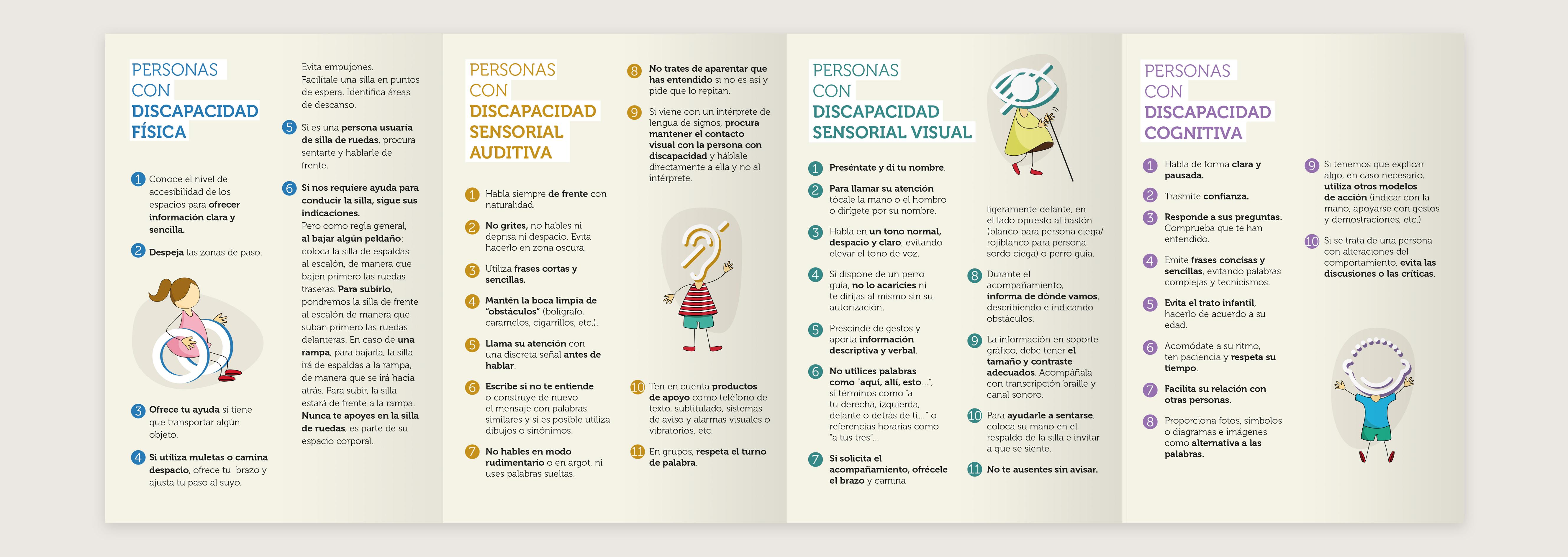 Diseño de folleto para personas con discapacidad
