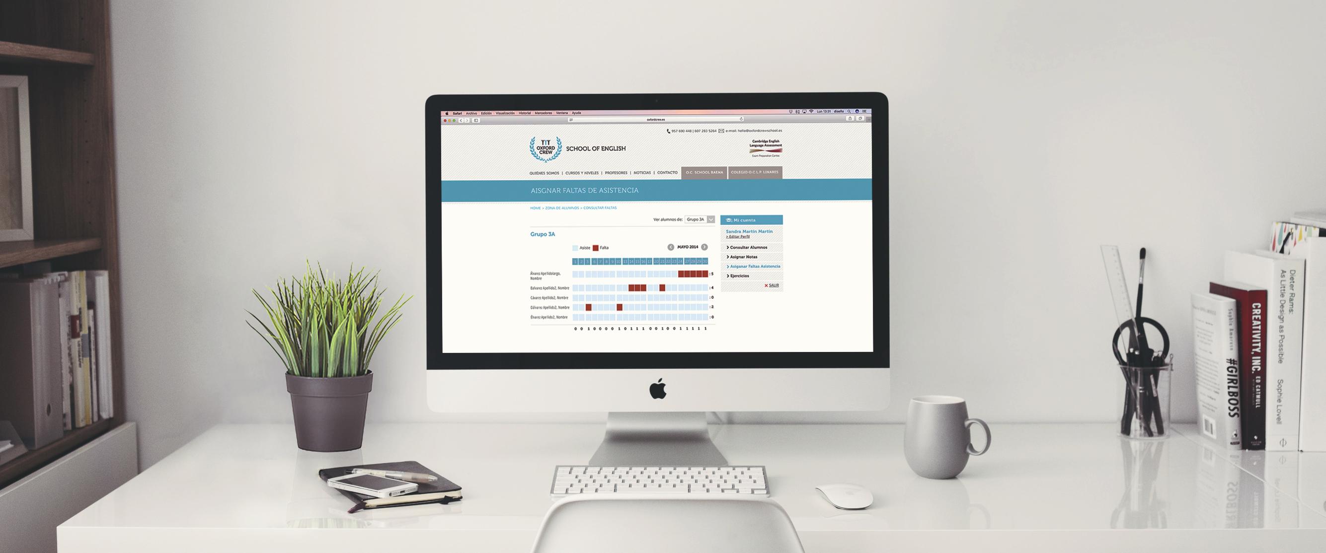 aplicación online para centros de formación